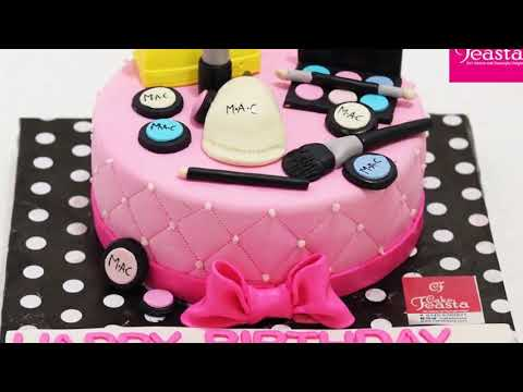 10 Amazing Makeup Cake Ideas - Cake Feasta - YouTube