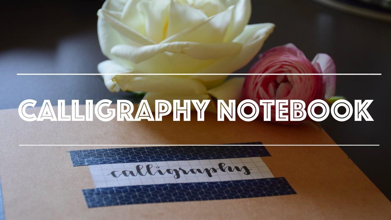 Making Something On My Calligraphy Notebook Youtube