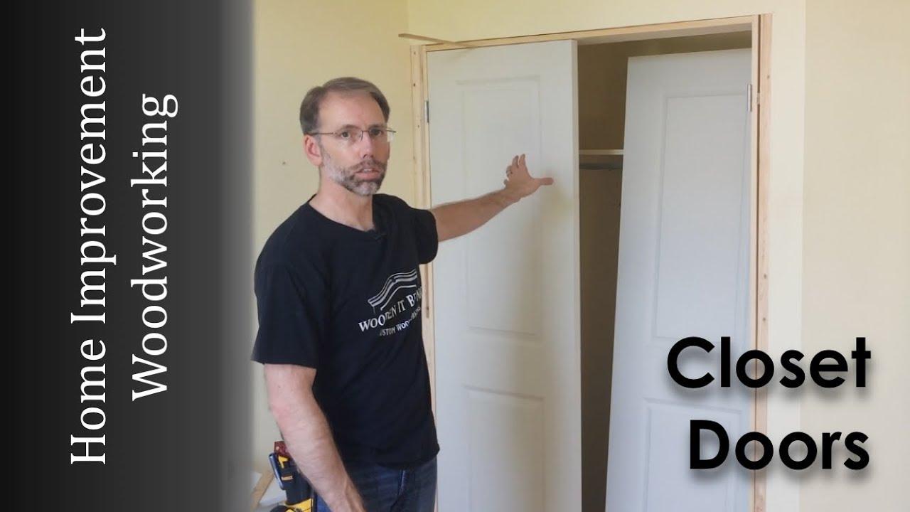 Closet Door Upgrade To Replace Sliding Doors Woodworking How To Youtube