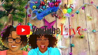 YouTube LIVE with Toya & Bella | Decorating Mini Christmas Trees | Q&A