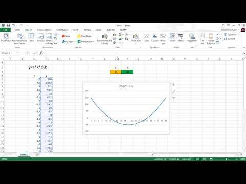 Как построить функцию в excel по формуле
