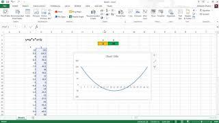 Excel график функции