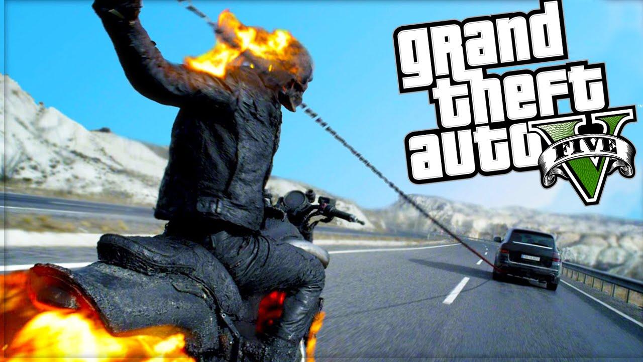 Ghost Rider Mod Gta 5 Mod Komik Anlar Youtube