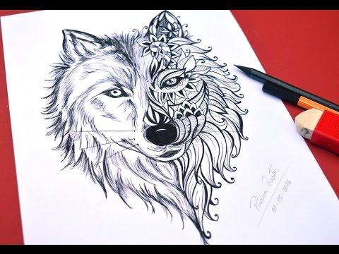 Desenho De Lobo Para Tatoo Speed Drawing Youtube