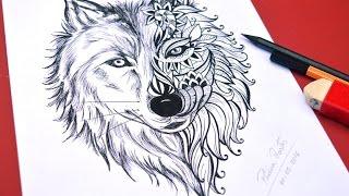 Desenho de LOBO para Tatoo - Speed Drawing