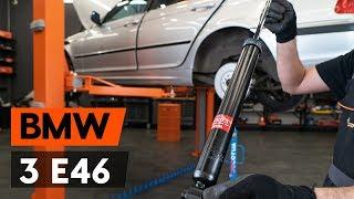 Kuinka vaihtaa takaiskunvaimentimet BMW 3 (E46) -merkkiseen autoon [OHJEVIDEO AUTODOC]