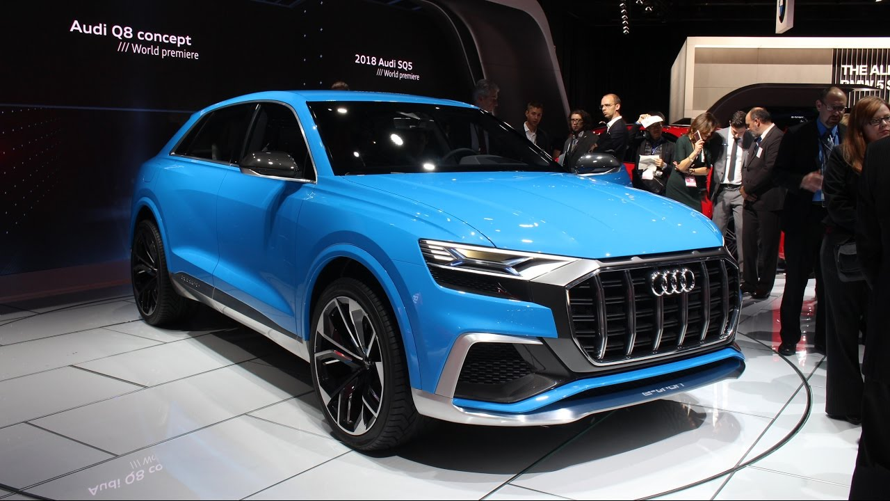audi q8 concept at the 2017 naias detroit auto show youtube. Black Bedroom Furniture Sets. Home Design Ideas