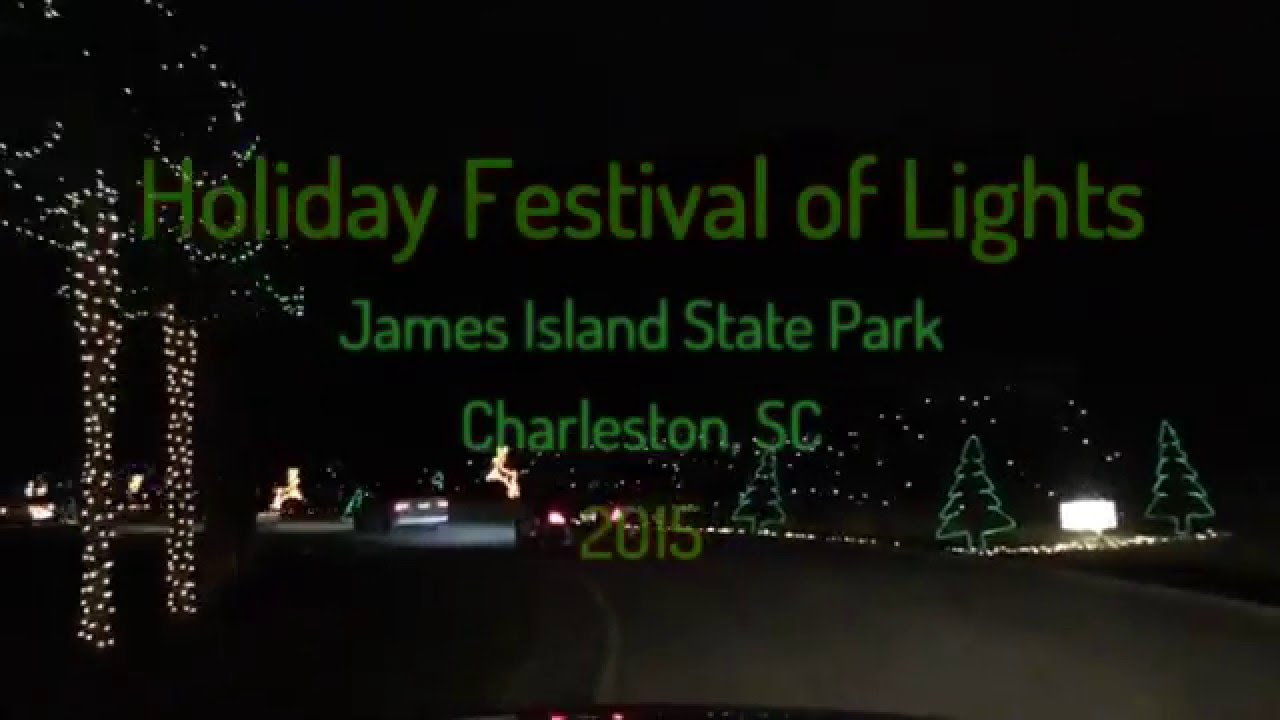 charleston festival of lights drive thru christmas lights show hyperlapse