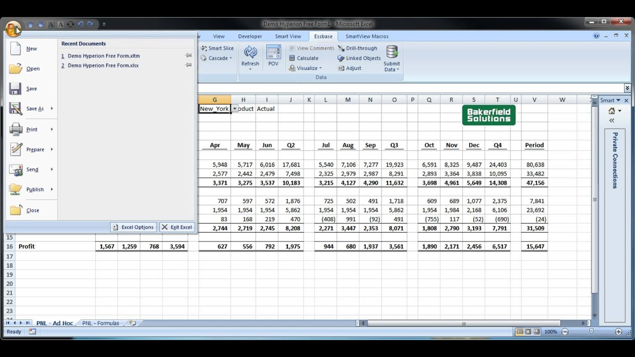 Excel Templates For The Oracle Smart View Excel Add