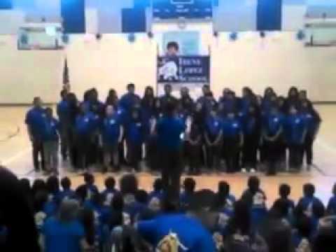Choir at Irene Lopez School Naming  1