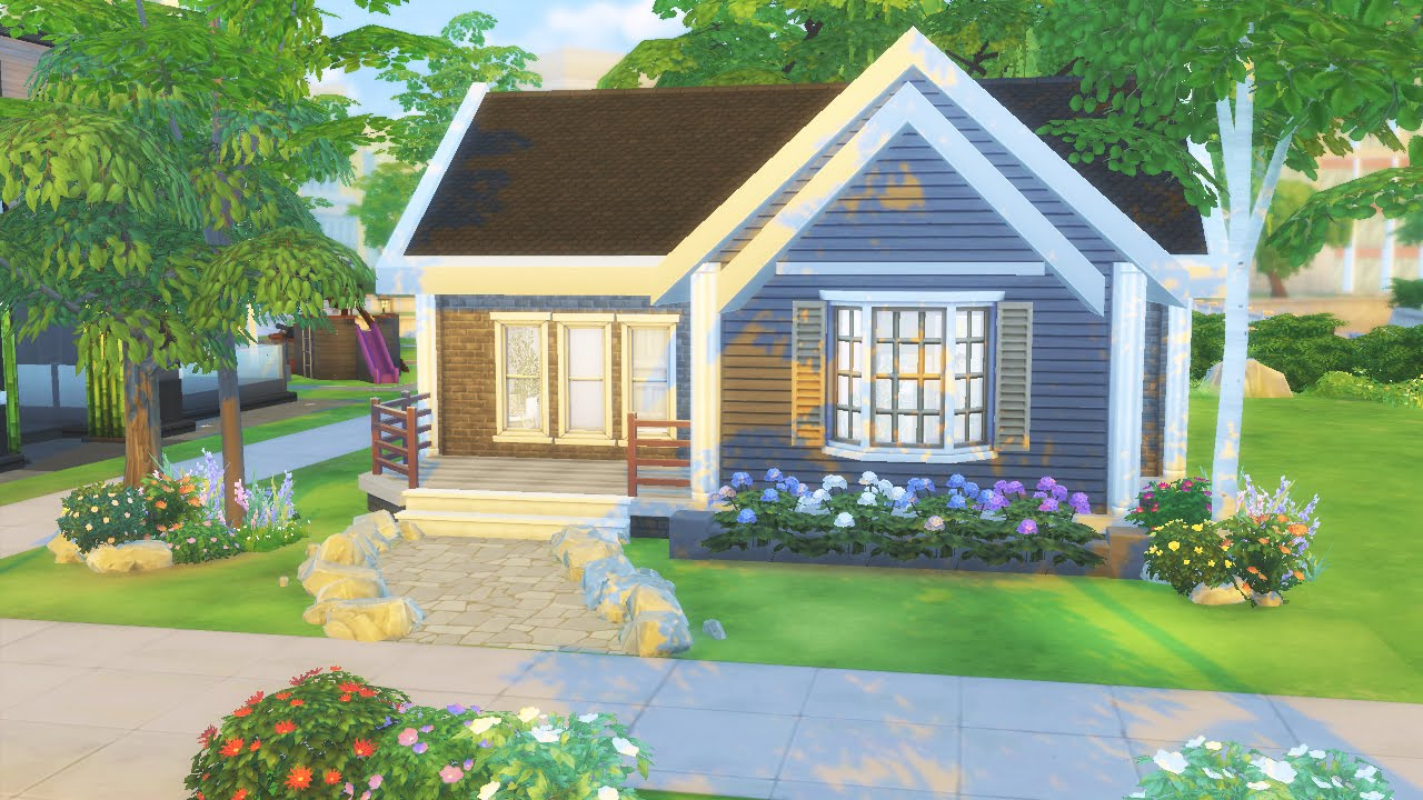 The sims 4 starter home house building youtube for Small starter homes