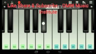 Petta - Aaha kalyanam keyboard Notes video how to play aaha kalyanam Piano Tutorial video by - DMW's