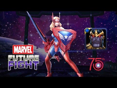 漫威 未來之戰 | 雪倫羅傑斯 單殺 薩諾斯 | Marvel Future Fight : SHARON ROGERS SOLO THANOS