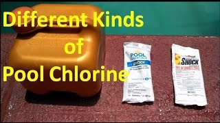 Swimming Pool Chlorine-Different Kinds