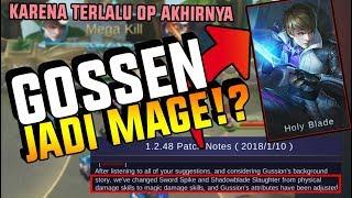 KARENA TERLALU OP GOSSEN DI GANTI JADI MAGE!? - Mobile Legend