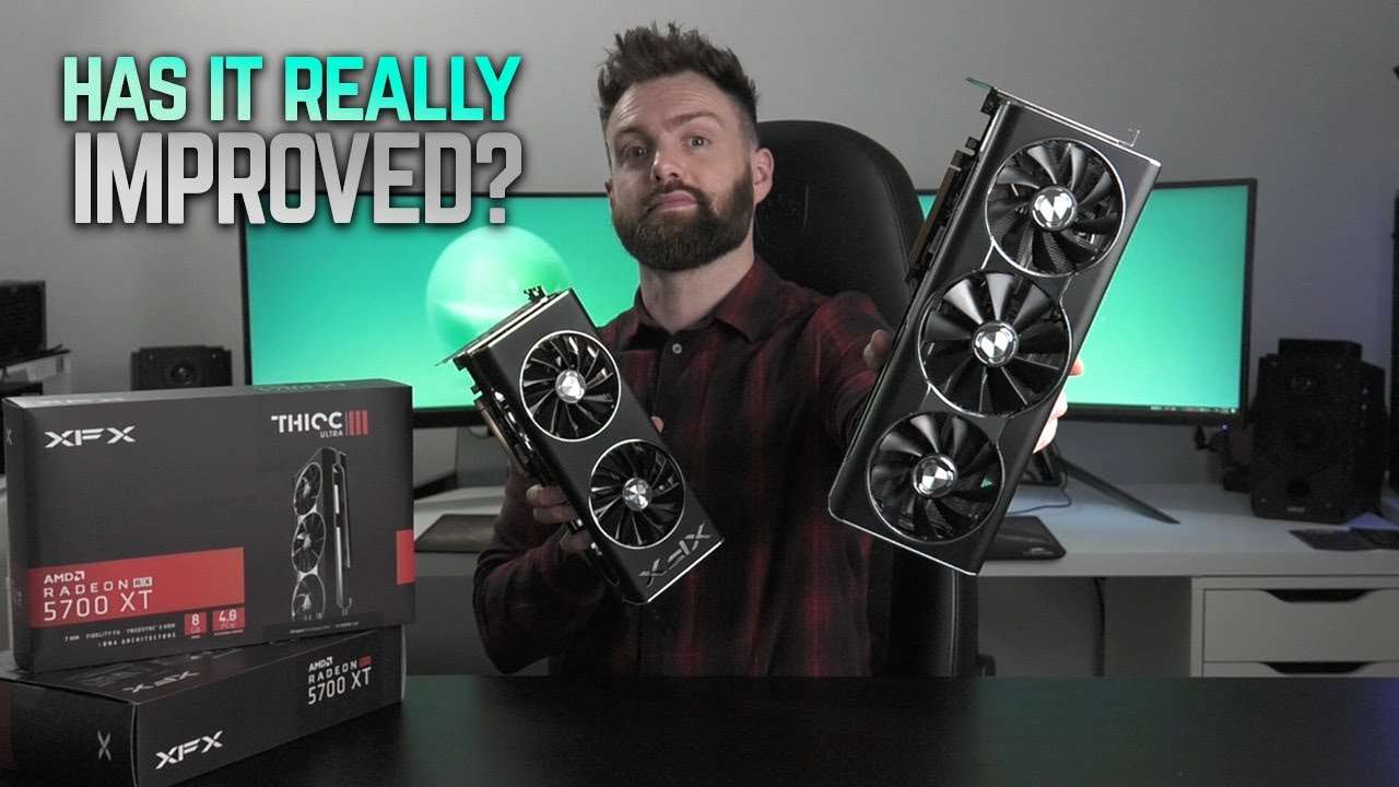 Xfx 5700 Xt Thicc Iii Ultra Review Vs Thicc Ii Youtube