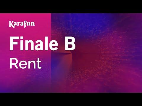 Finale B - Rent (film) | Karaoke Version | KaraFun
