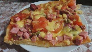 ♦вкусная пицца из слоеного теста♦