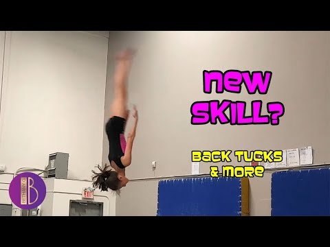 DID SHE LAND IT?!? | BACK FLIPS | Gymnastics With Bethany G