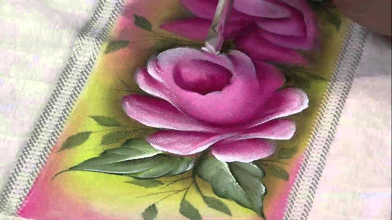 Mulher Com 15 03 2013 Luciano Menezes Pintura Em Tecido Rosas