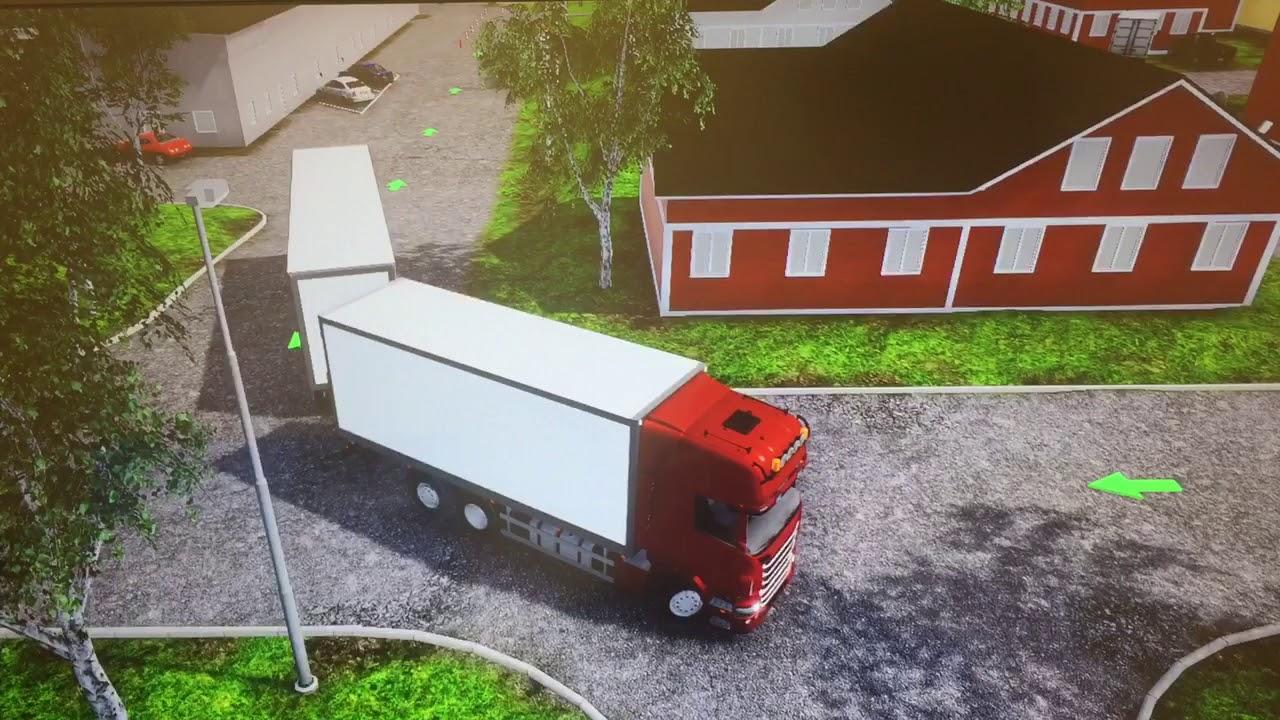Backa runt hörnet med släp , Drive back around the corner with a trailer YouTube