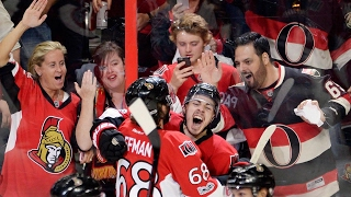 Pageau scores 4 times including OT winner to get Senators past Rangers