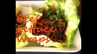 How To Make  Marinated Beef Lettuce Wraps