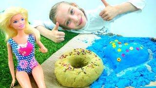 Конкурс замков из песка - Игры для девочек в куклы