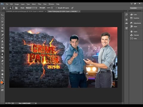 crime patrol satark wallpaper edit with Anoop Soni on photoshop