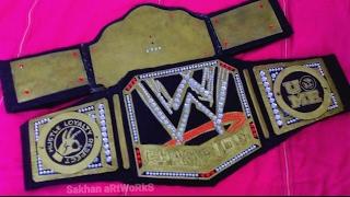 How To Make WWE world heavy weight championship big gold replica belt