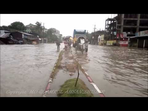Heavy Rain and Water Flow in Chittagong City, Bangladesh. (Mysterious City 2)