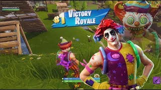 NEW Clown Outfit (GamePlay) Solo Squad EPIC Victory Royale WIN 'Nite Nite' Fortnite