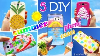 5 DIY Summer Phone Cases – How To Make Ice Cream, Pineapple, Sunset, Flip-flop, Stars Phone Covers