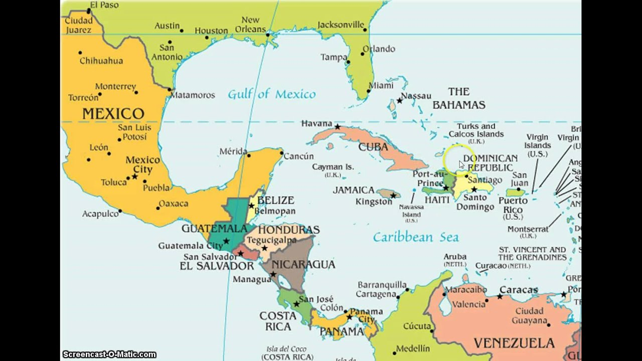 Latin America Map Song - YouTube