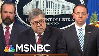 Federal Judge Blasts Barr Over Mueller Report   Deadline   MSNBC