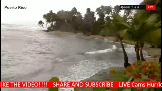 LIVE NOW  PUERTO RICO HURRICANE IRMA Tracking, CAT 5 185 MPH to SLAM FLORIDA - Orlando Hurricane