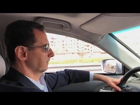 """""""Assad conduz carro até Ghouta num domingo"""""""