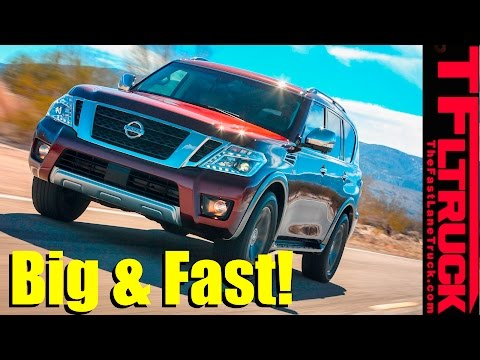 2017 Nissan Armada Platinum AWD 0-60 MPH Review: Fast Luxury!