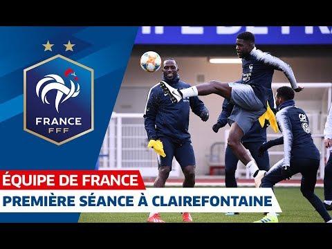 Le premier entraînement des Bleus à Clairefontaine, Equipe de France I FFF 2019