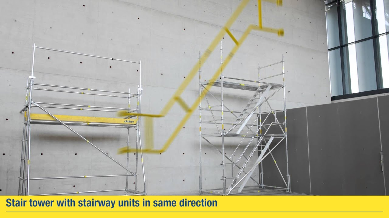 Working Scaffold Modul Stair Tower With Stairway Units