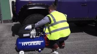 Компрессор Hyundai тест в работе смотреть
