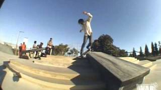 Norman Woods at the New Skate Plaza in Los Angeles