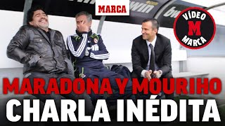 La charla de Maradona y Mou:
