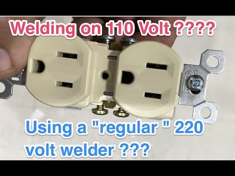 How to run a 220 volt welder on 110 volt - Is that even possible ????