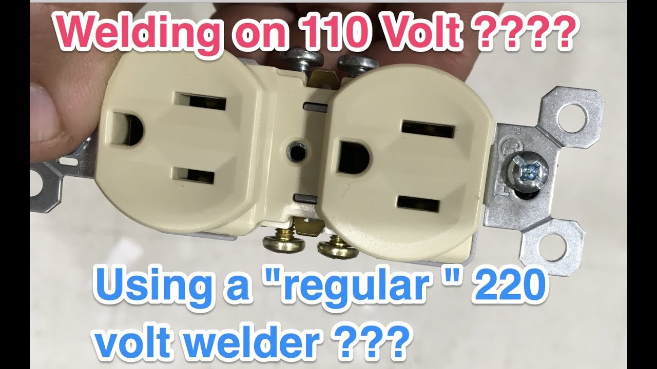 How to run a 220 volt welder on 110 volt - Is that even possible ...