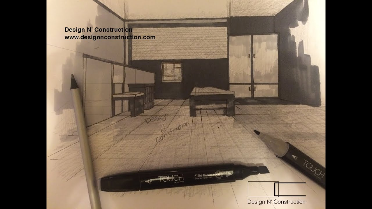 One Point Perspective Tutorials Design N Construction