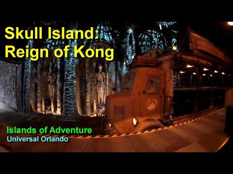 Skull Island Reign of Kong On Ride Low Light POV Universal Orlando Islands of Adventure