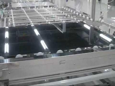 Solar Panel Glass Substrate Transfer Conveyor Youtube