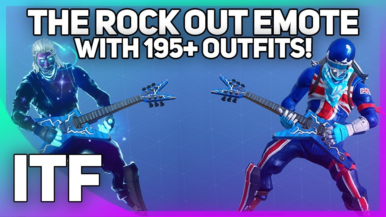 The Rock Out Emote on 195+ Outfits! (Fortnite Battle ...