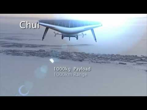 Hybrid airship and airplane flying solar-powered.mp4